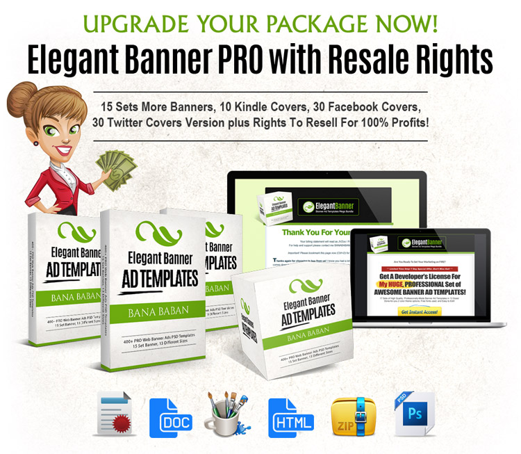 Elegant Banner with PLR Rights